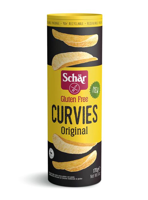SCHAR Kartupeļu čipsi CURVIES ORIGINAL