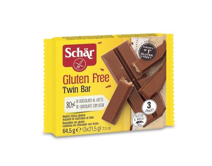 SCHAR Vafeļu batoniņi ar šokolādi bez glutēna TWIN BAR